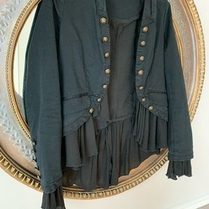 Free People Jackets & Coats - Free people romantic ruffle military jacket xs